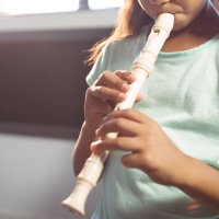 Zerone Soprano Recorder Kids 8 Holes German High Pitched Recorder Flute with Cleaning Bar