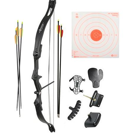 Crosman Archery Elkhorn Compound Bow Kit, 5ct Arrows plus 3pk Visible Impact - Plus Compound Bow
