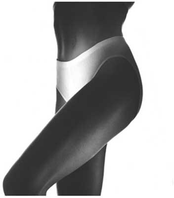 Andiamo Clothing Shorts Pad Brief Women's White Medium