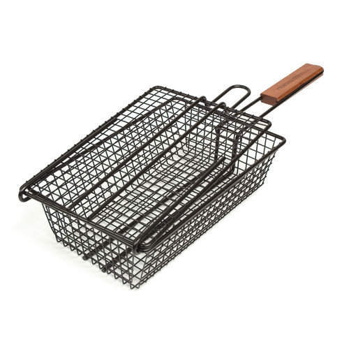Charcoal Companion Non-Stick Shaker Basket for Grilling Multi-Colored