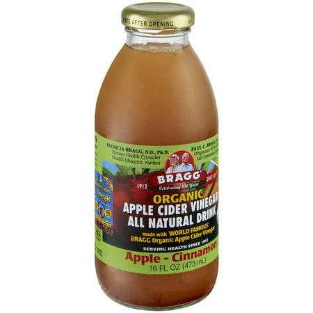 - Bragg Organic Apple-Cinnamon Apple Cider Vinegar All Natural Drinks, 16 fl oz, 12 count