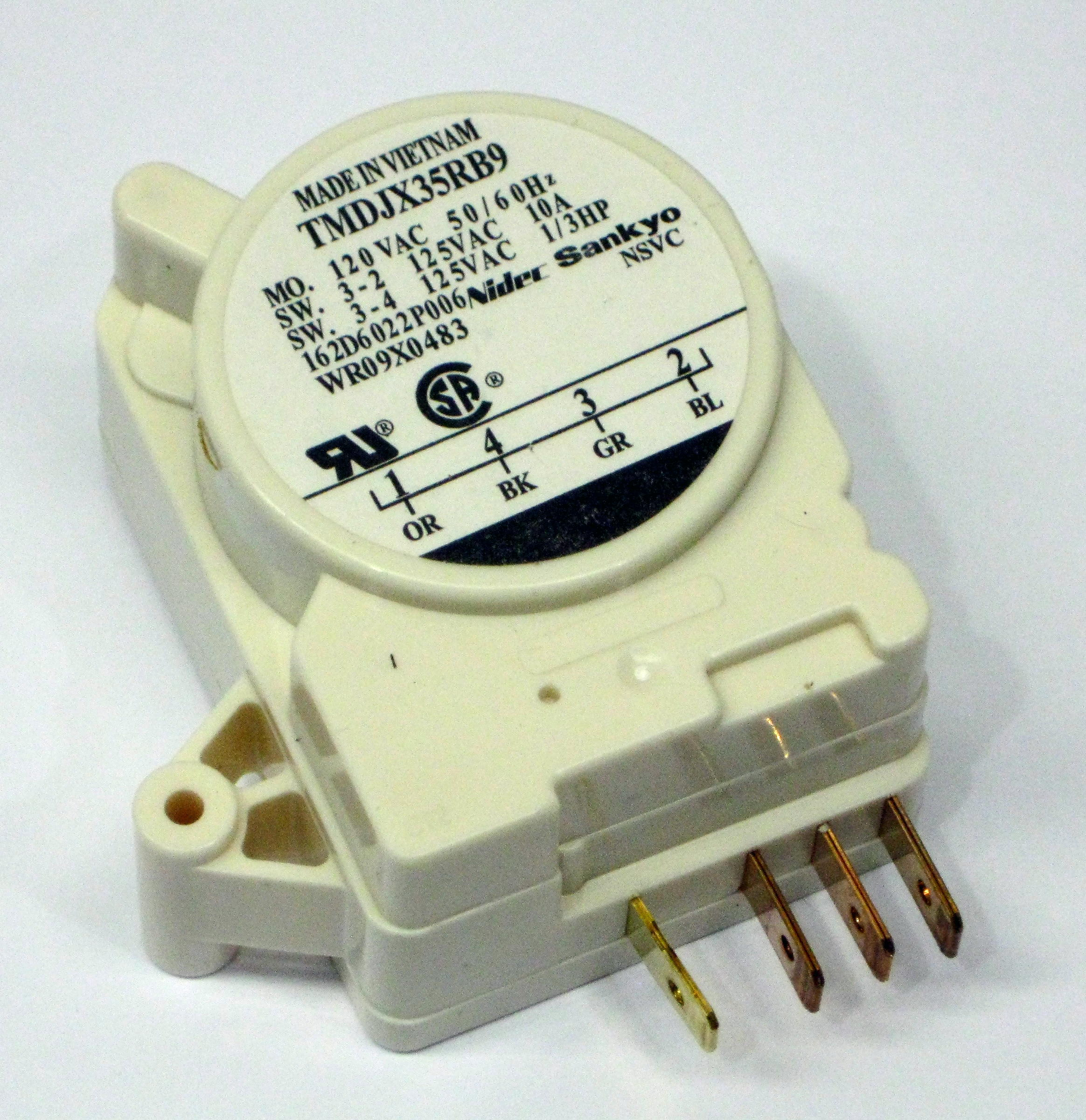 Refrigerator Defrost Timer Control WR9X483 for GE 162D6022P6 AP2061693 PS310852