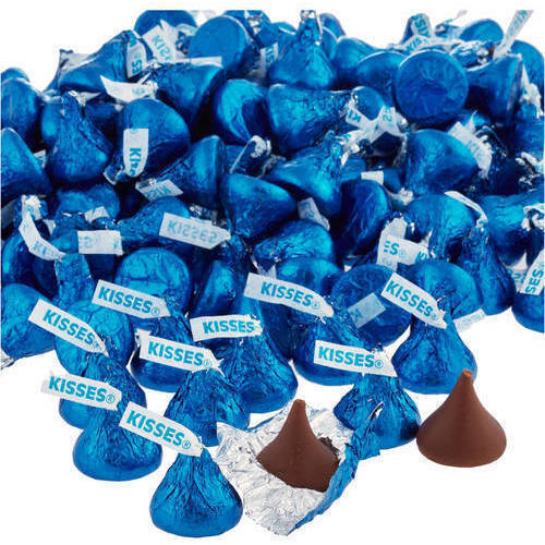 Kisses Milk Chocolate Candy Dark Blue Foil, 4.1 lb Online Only by Hershey's Kisses