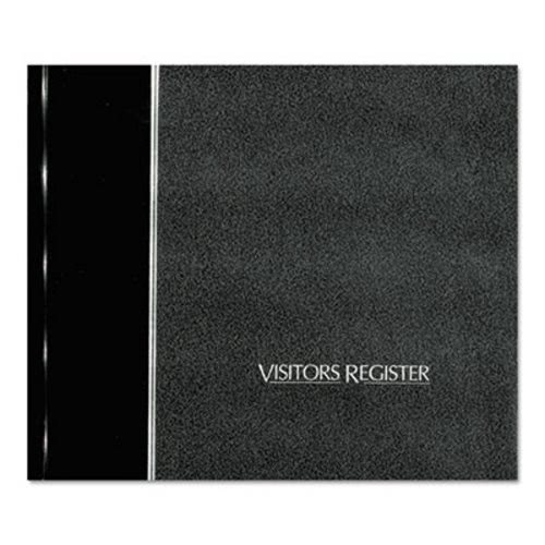 National Brand Visitor Register Book, 8 1 2 x 9 7 8, Black Hardcover (RED57802) by