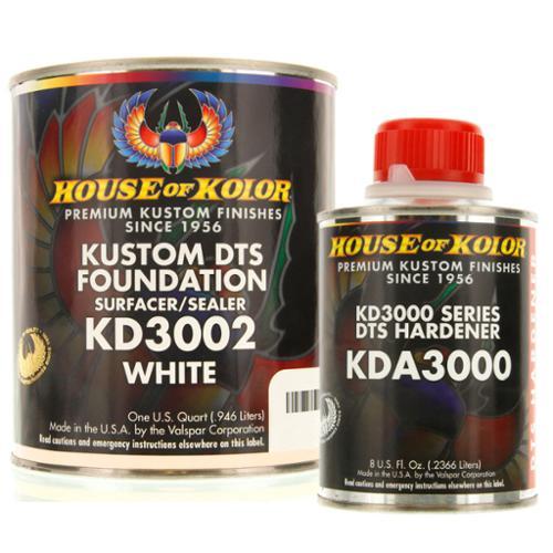 House of Kolor QUART KIT WHITE Color KD3002 DTS Surfacer / Sealer w/ Hardener