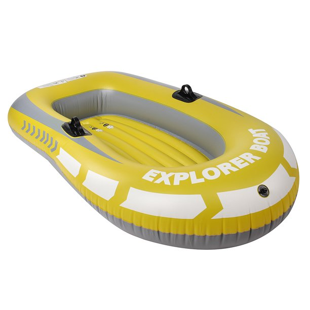 Inflatable Boat ,2 Person PVC Inflatable Rowing Air Boat Fishing Drifting Diving Tool, Inflatable Canoe (Not Including Oars)