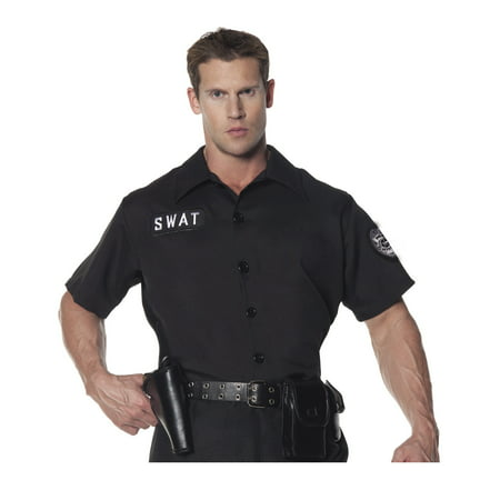 Swat Team Mens Adult Police Officer Halloween Costume Shirt