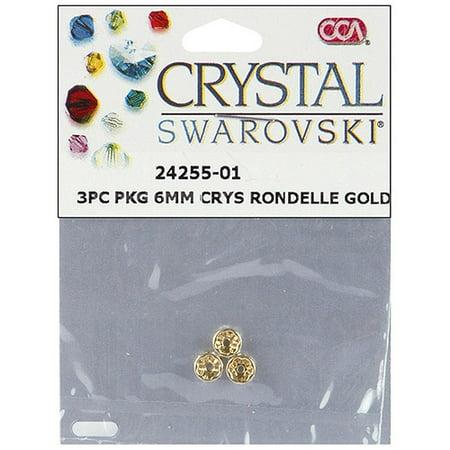 Cousin Swarovski Crystal Spacer Beads, 6mm Rondelle, 3pk Rondelle Spacer Beads