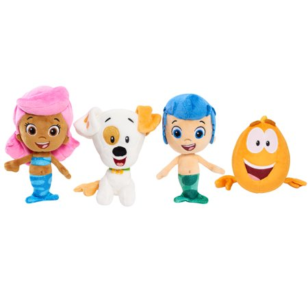 Bubble Guppies Bean Plush Bundle- Gil, Molly, Bubble Puppy & Mr Grouper