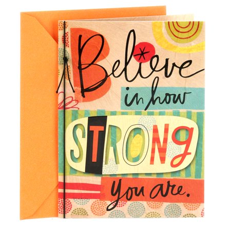 Hallmark, Believe in How Strong You Are. Encouragement Greeting Card (Believe Greeting Cards)