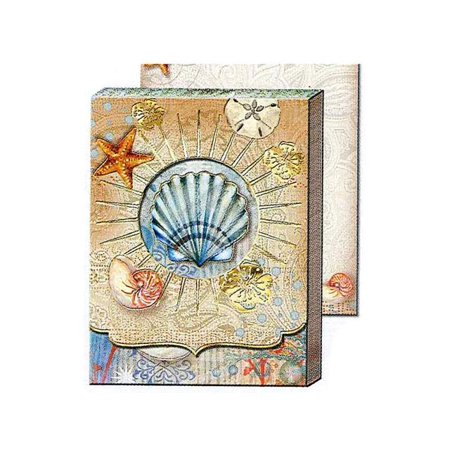 Punch Studio Note Pad Pocket Window Tiny Seashell