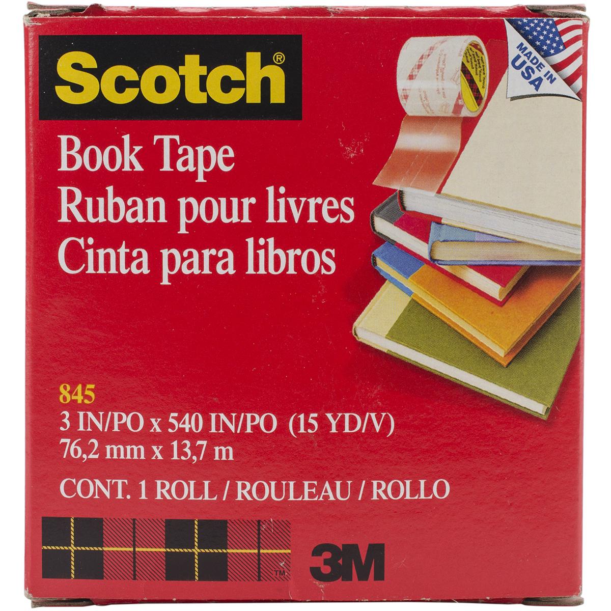 "Scotch Book Tape Boxed 3""X15yd"