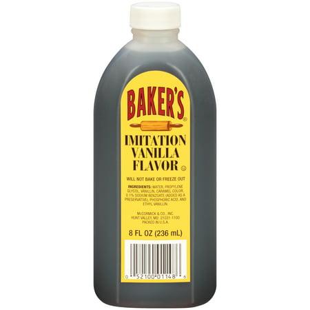 Bakers Imitation Vanilla Flavor 8 Fl Oz