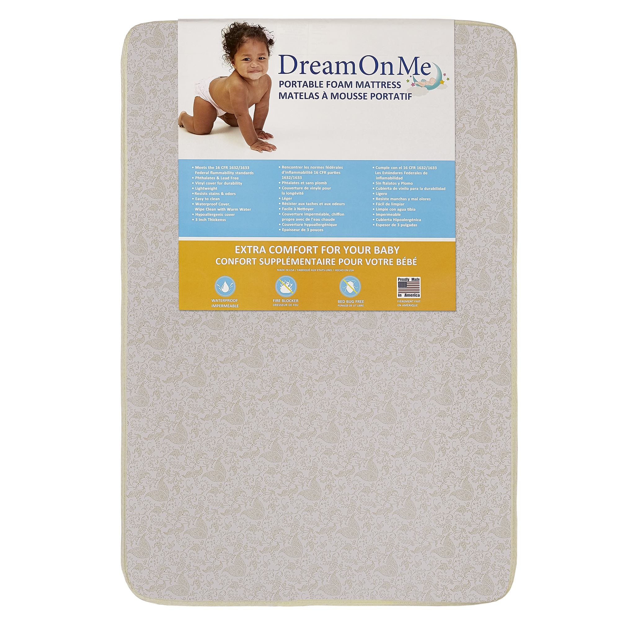 "Dream On Me 3"" Foam Carina Collection Pack N Play Mattress - Walmart.com"