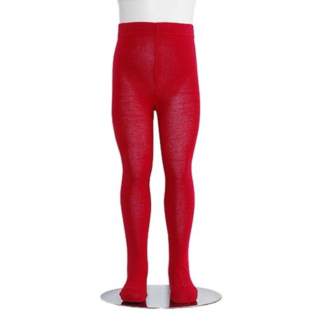 Heavyweight Spandex Tights - Red Piccolo Heavyweight Opaque Toddler Little Girls Tights 2T-16