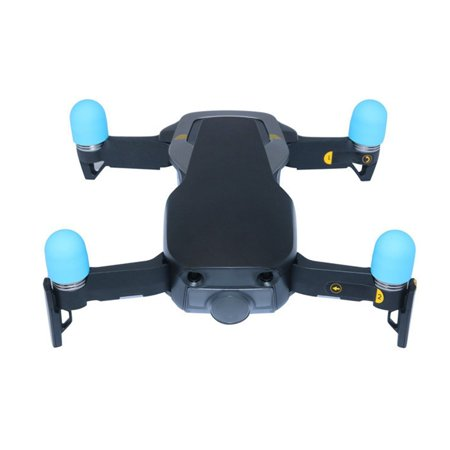 4pcs Motor Cover Silicone Rubber Case Cap Sleeve Guard Motor Protective Accessories for DJI Mavic Spark Air Drone Color:sky