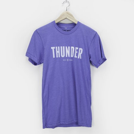 Unisex Men and Women Thunder Tee Shirt OKC Oklahoma City Adult True Royal Triblend by Shop Good (Adult Stores Oklahoma City)