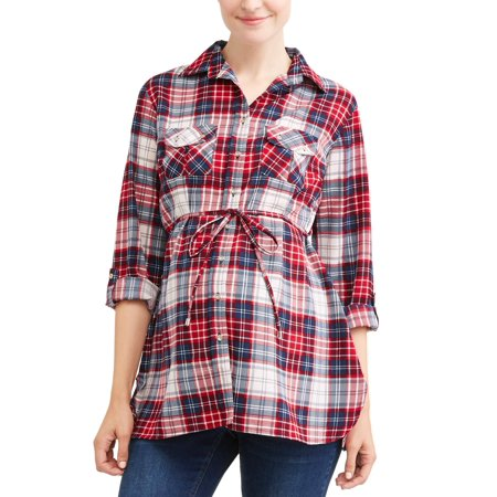 2 Pocket Button (Maternity Two Pocket Button Up Top - Available in Plus)