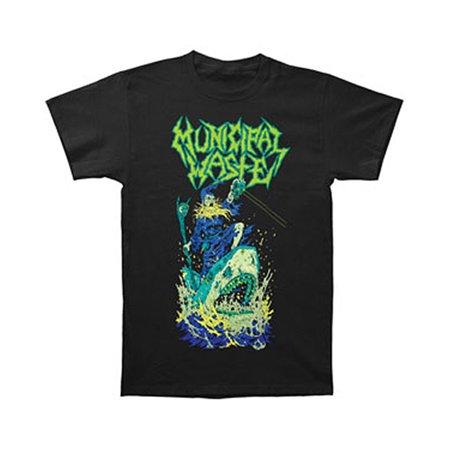 Municipal Waste Men S Zombie Shark T Shirt Black