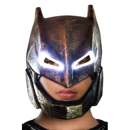 Batman v Superman: Dawn of Justice, Batman Adult Armored Light Up Mask, Halloween Accessory - V Halloween Mask