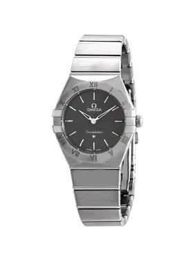 Omega Constellation Manhattan Quartz Grey Dial Ladies Watch 131.10.28.60.06.001