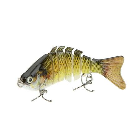 """100mm 13g 3.9"""" 7 Segments Multi-Jointed Hard Fishing Lure Life-like Swimbait Crank Bait 2 Treble VMC Hooks thumbnail"""