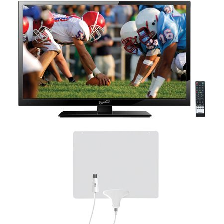 "Supersonic 24"" Class - Full HD, LED TV - 1080p, 60Hz (SC-2411) and Mohu Leaf 50 HDTV Antenna"