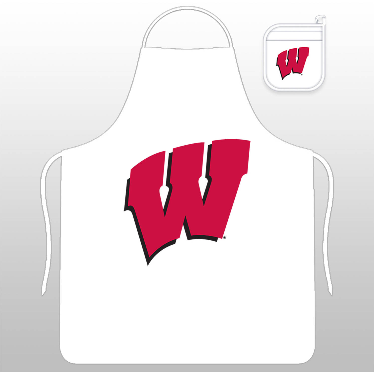 NCAA University of Wisconsin Tail Gate Kit with Apron and Mitt by Sports Coverage, Inc.