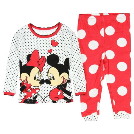 Disney - Baby Girls  Mickey and Minnie Mouse 2 Piece Cotton Pajama ... d77c02611