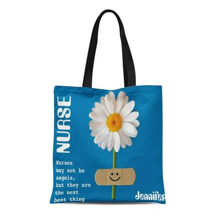 ASHLEIGH Canvas Tote Bag Nurses Custom Nurse Name Week Thank You Corporate Greetings Reusable Handbag Shoulder Grocery Shopping - Nurse Purse