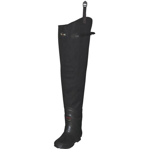 Proline Size 11 Plain Toe Hip Waders, Men's, Dark Brown, 3111 11