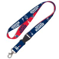 Washington Wizards WinCraft Wordmark Lanyard with Detachable Buckle - No Size