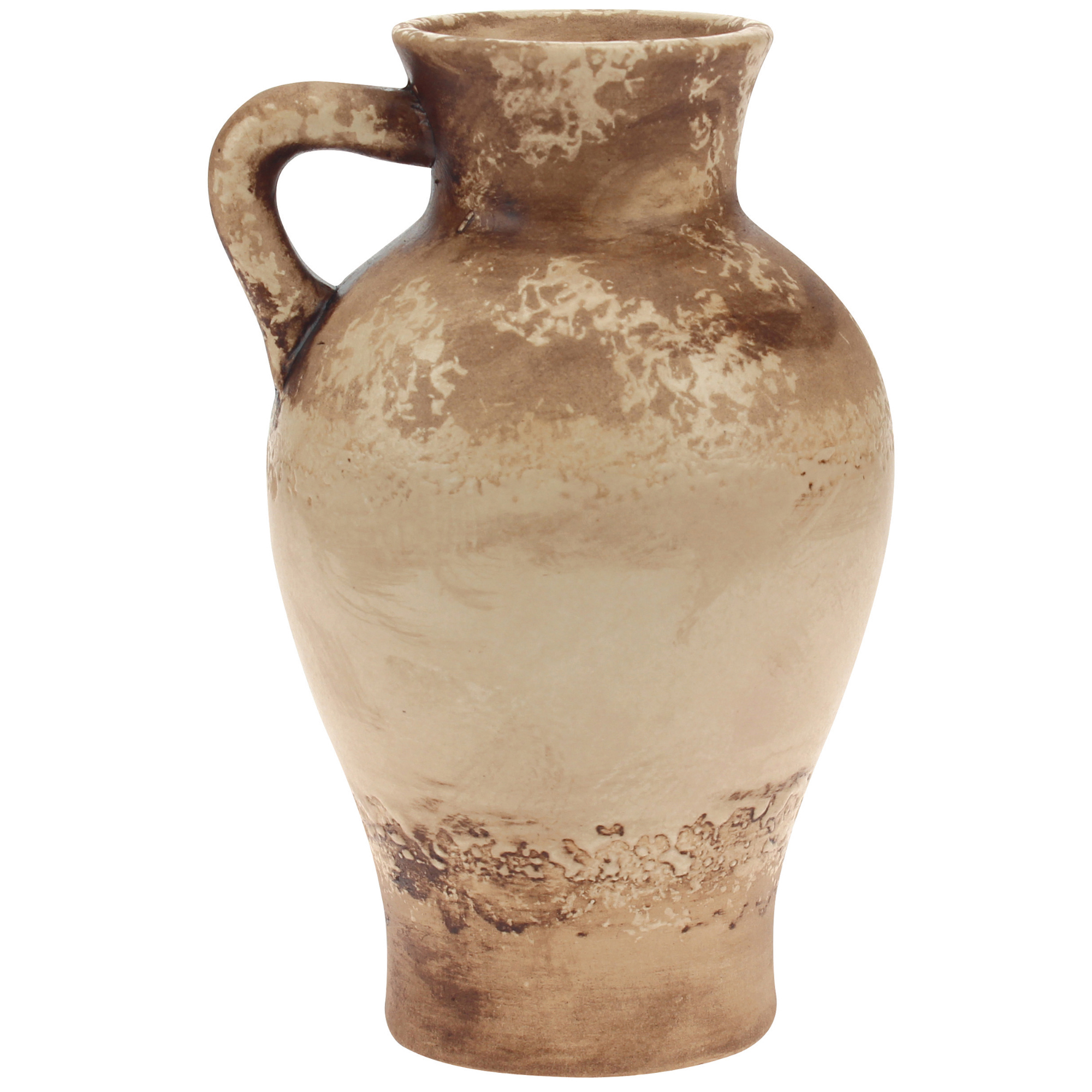 Stonebriar Collection small sand weathered vase with handle
