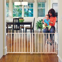 """Toddleroo by North States Natural Wood Extra Wide Swing Baby Gate, 60""""- 103"""""""
