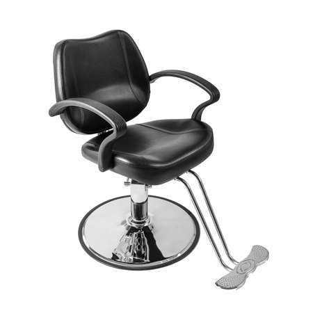 Zimtown Classic Hydraulic Barber Chair, for Salon Beauty Spa Haircutting Hair Styling, Barber Shop Equipment, Heavy Duty Frame (Black)