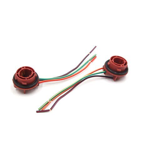 2Pcs 1157 Brake Light Bulb Extension Wiring Harness Socket Connector for (Brake Wiring Connector)