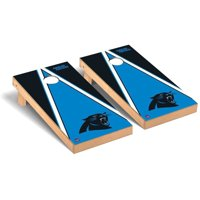 Carolina Panthers 2' x 4' Triangle Cornhole Board Tailgate Toss Set