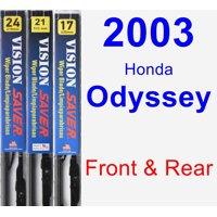2003 Honda Odyssey Wiper Blade Set/Kit (Front & Rear) (3 Blades) - Vision Saver