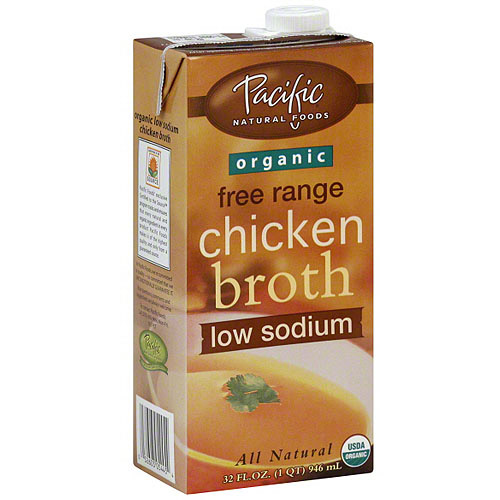 Pacific Natural Foods Organic Low Sodium Chicken Broth, 32 oz (Pack of 12)