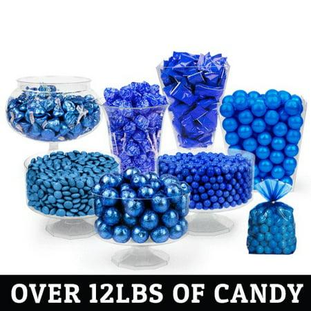 Blue Deluxe Candy Buffet - Navy Blue Candy Buffet
