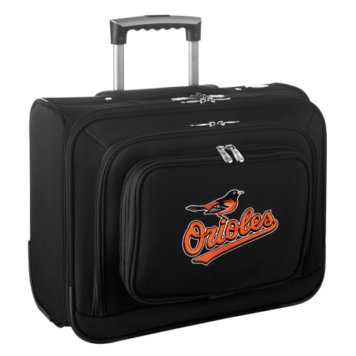 Baltimore Orioles Carry-On Rolling Laptop Bag - Black - No Size