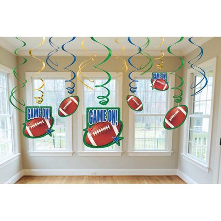 Football Birthday Decorations (Game On Football Danglers)