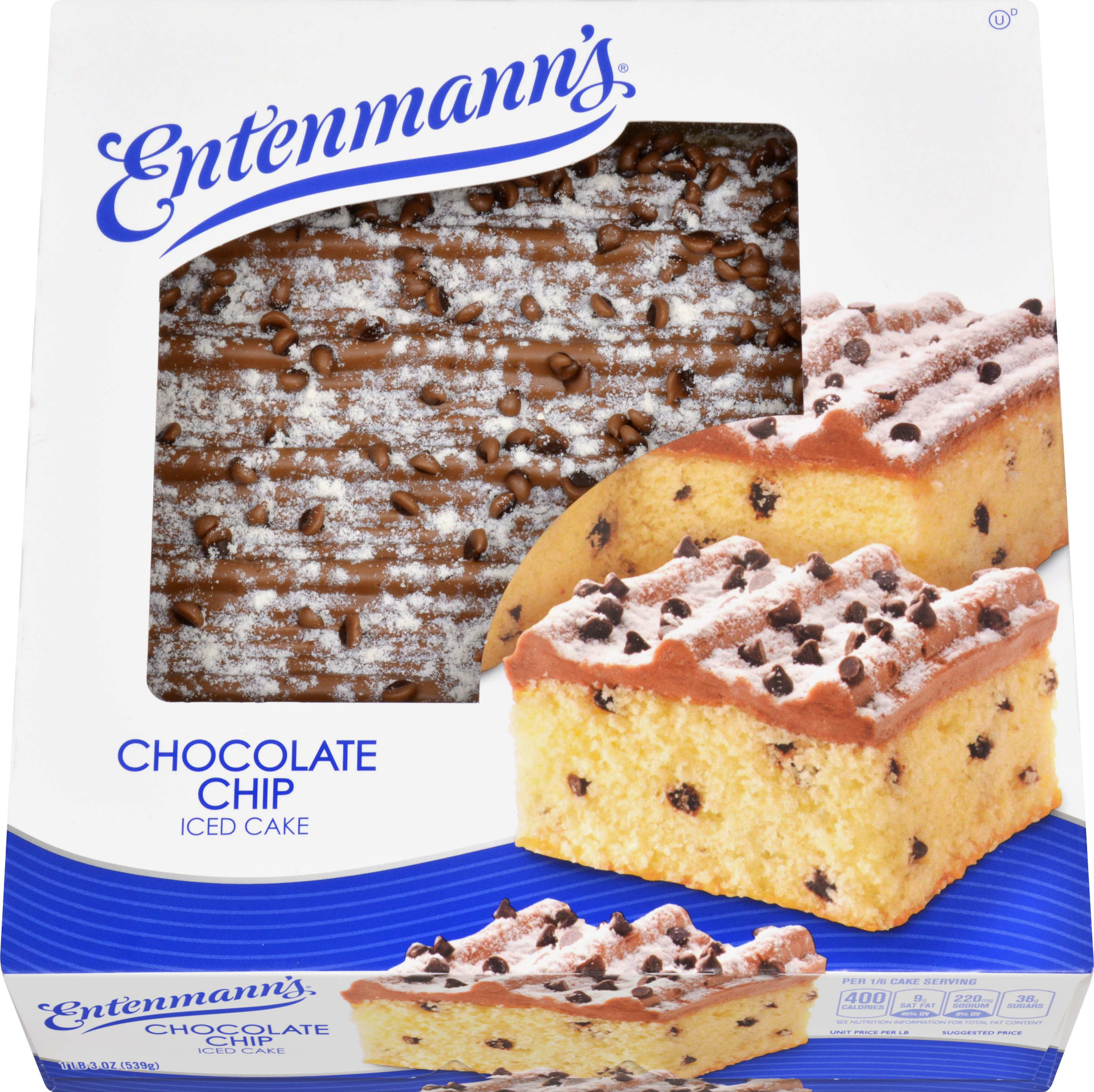 Entenmann's Chocolate Chip Iced Cake 19 oz