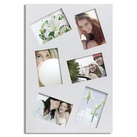 6 Opening Decorative Rectangular Wall Hanging Collage Picture Frame ()