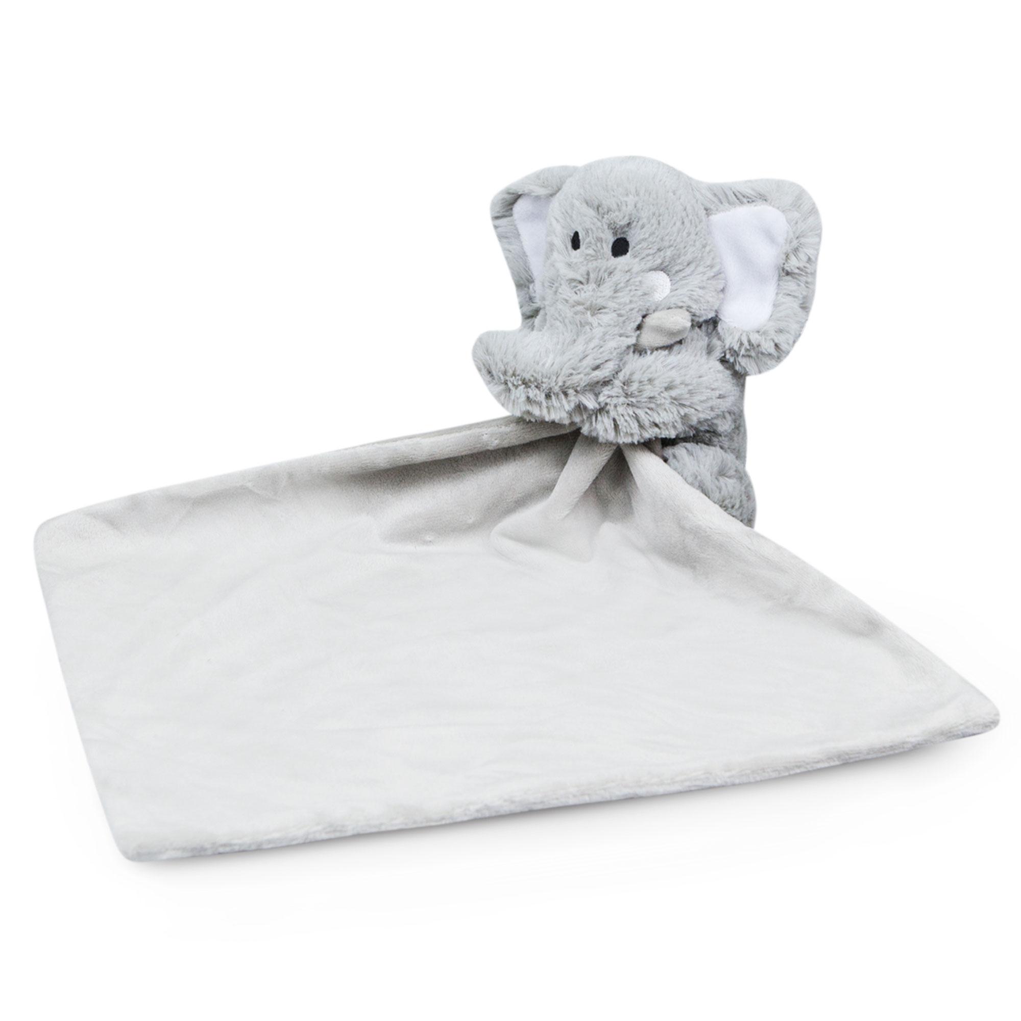 Waddle Elephant Baby Blanket Lovey Stuffed Animal Rattle Toy Nursery