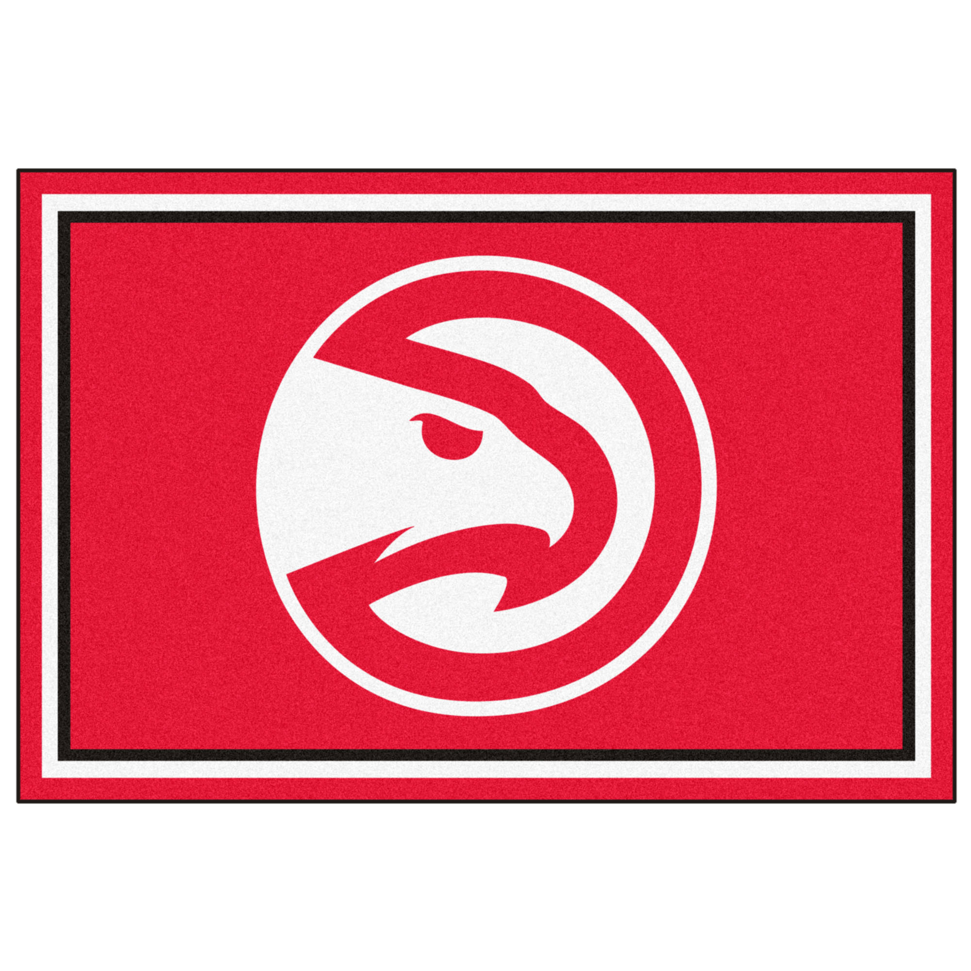 NBA Atlanta Hawks 5 x 8 Foot Plush Non-Skid Area Rug