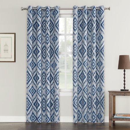 Sun Zero Sixten Medallion Crushed Texture Energy Efficient Curtain Panel