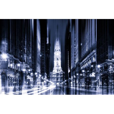 Urban Stretch Series - City Hall and Avenue of the Arts by Night - Philadelphia Print Wall Art By Philippe Hugonnard](Halloween Night Events Philadelphia)