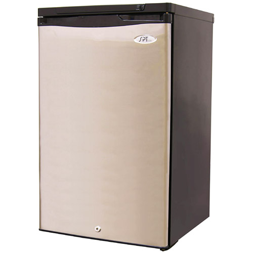 Sunpentown 2.8 cu. Ft. Upright Compact Freezer, Stainless