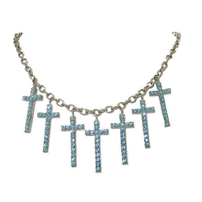 Designer Jewelry N0139 Cross Charm Necklace, Paris